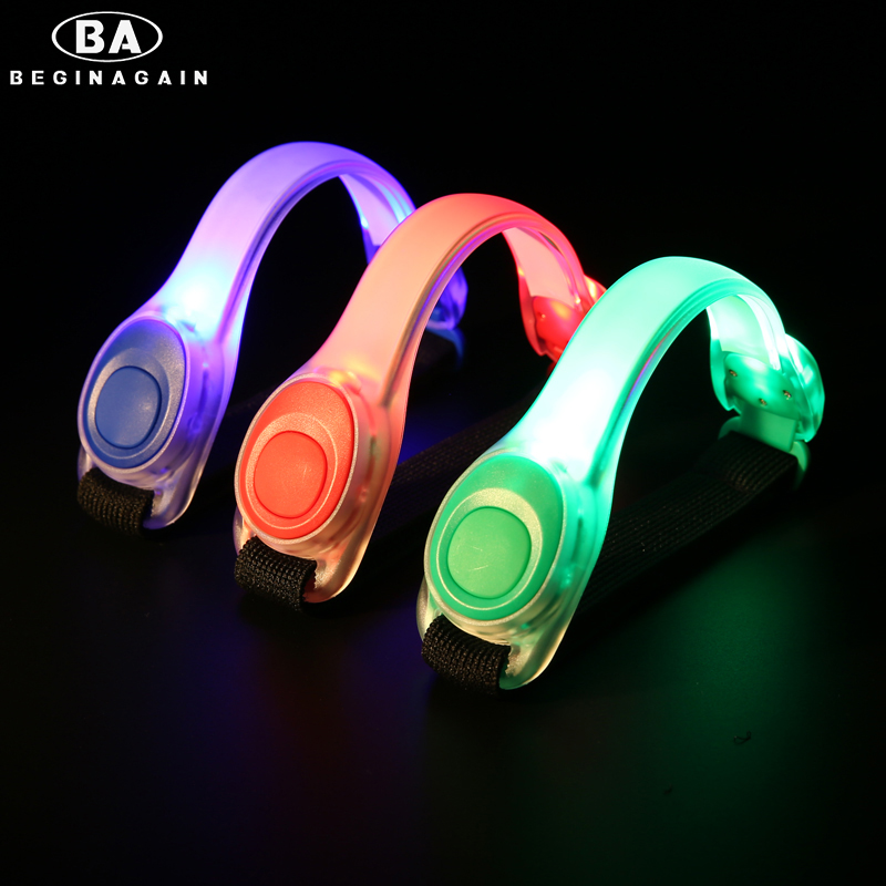 BEGINAGAIN Bicycle Sports LED Armband Safety Reflective Light Nocturnal Cycling Run Outdoor activities Equipment 3 Colors