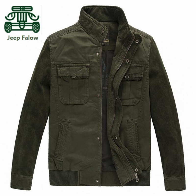 AFS JEEP Falow 2017 Corduroy Sleeve Winter Cotton Jacket,thickness Man's Cotton Pockets Motorcycle Brand Loose Cargo big Coat