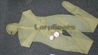 Мужской прозрачный/черный/красный латексный комбинезон с полным покрытием боди с мужской презерватив носки и перчатки плюс размер