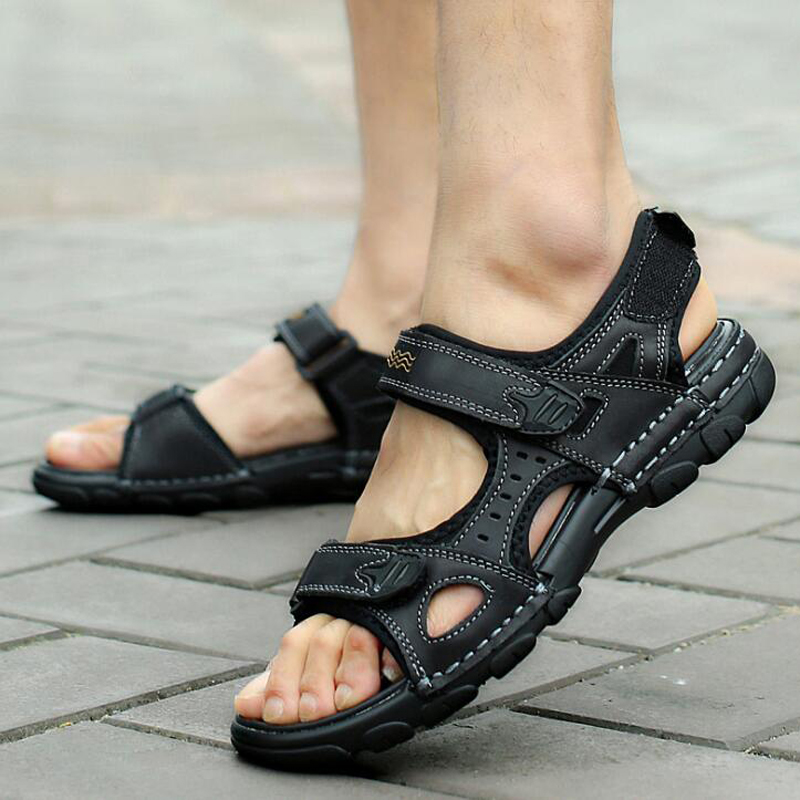 Shoes New Mens Sandals Summer Black Casual Shoes High Quality Flat Beach Sandals Slippers For Men Hommes Sandalias Size 45 46 47 Sophisticated Technologies