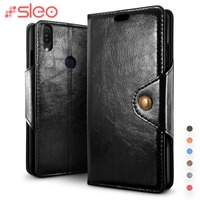 SLEO Retro PU   Leather     Case   For Asus Zenfone Max Pro M1 ZB601KL Flip   Case   For Asus Zenfone Max Pro M1 zb602kl Wallet Stand Cover