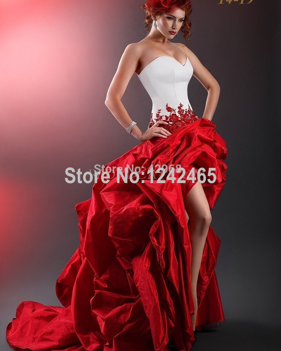 Top I pi costosi abiti da sposa rosso - Fashion touch italy ZE74