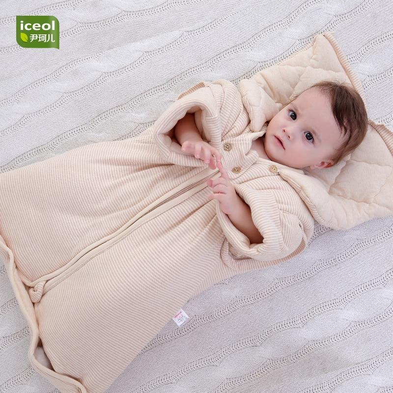 Autumn Detachable Children Sleeping Bag 100 Organic Cotton Blanket Sleepers Zipper Kids Cartoon Boy Girl Baby Jumpsuit Bedding In From