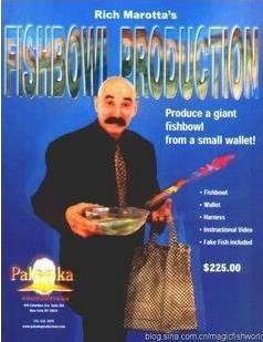 Fish Bowl Production - Magic Trick,illusions,Accessories,mentalism,stage magic props,close up,comedy,Magia Toys,Joke,Classic magic fish bracelets