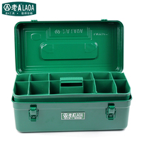 LAOA New Arrival Multifunction Thicken Iron toolkit Size(410*210*180mm) Professional repair ToolBox