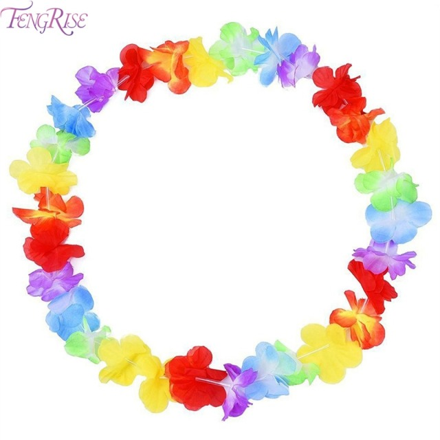 itm hawaiian flashing pcs photo luau flower rave necklace led lei blinking light up