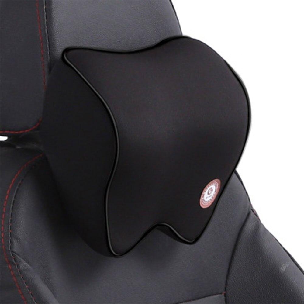 Vehemo автомобильные подушки для шеи подголовник автомобиля дышащие удобные сиденья Шейная поддержка шеи Подушка четыре сезона - Название цвета: black black
