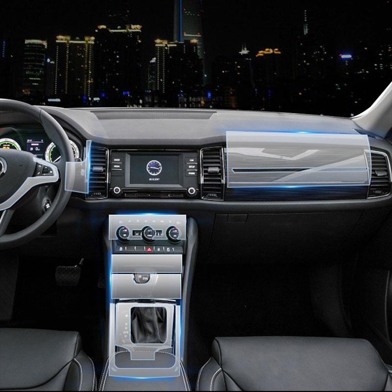 For skoda transparent tpu protective film stickers for - Automotive interior protective film ...