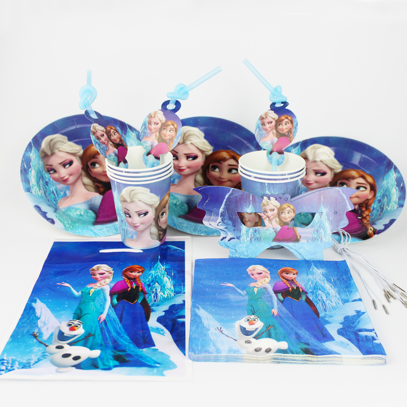 92pcs/lot Wholesale Disney Frozen Baby Birthday Party Decorations Kids ...