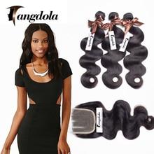 Stema Hair Brazilian Body Wave With Closure Cheap Human Hair Weave 7a Brazilian Virgin Hair With Closure 4 Bundles With Closure