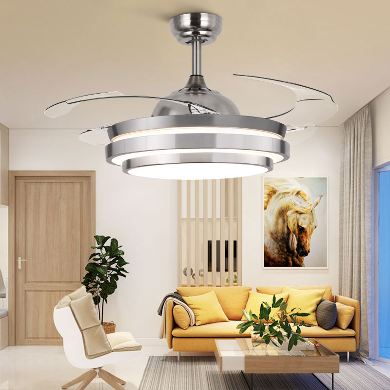 42 Inch Modern Invisible Fan Lights Acrylic Leaf Led Ceiling Fans 110v-220v Wireless Remote Control Ceiling Fan Light 42-yx0098 Lights & Lighting Ceiling Fans