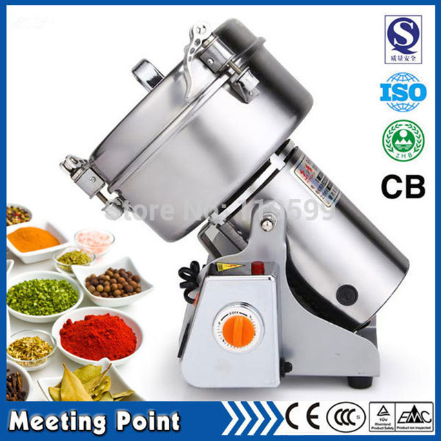 220V/110V Powdered Sugar Mill 1000g swing grinder herb powder machine food grade stainless steel Crusher electric food mills