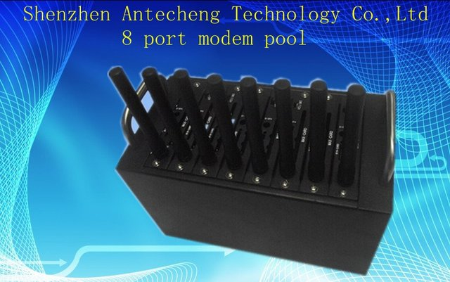 8 port modem pool with Q2406 with TCP/IP bulk sending SMS