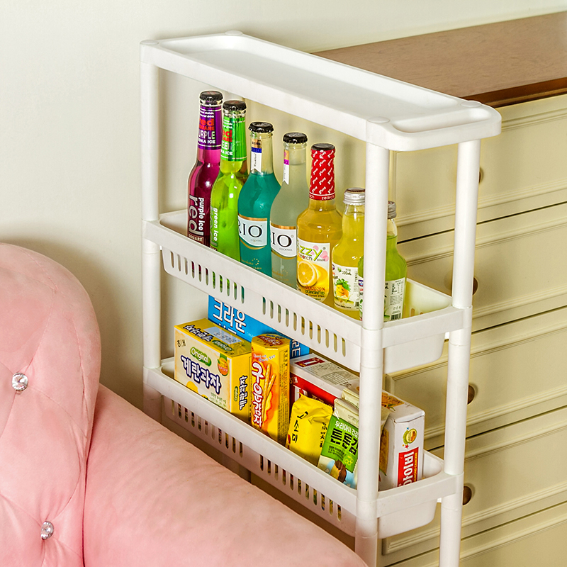 050 Multipurpose Shelf with Removable Wheels Crack Rack Bathroom Storage Storage Rack Shelf Multi layer Refrigerator Side Shelf in Storage Holders Racks from Home Garden