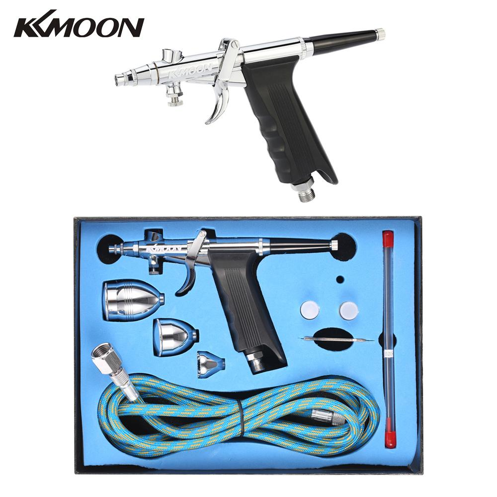 Professional Double Action Gravity Feed Spray Gun Trigger Airbrush Set Spray Model Air Brush for Nail