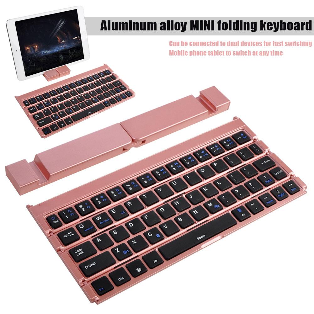 Nouveau clavier Bluetooth chaud pliant clavier Portable pour IOS Android tablette de téléphone Mobile