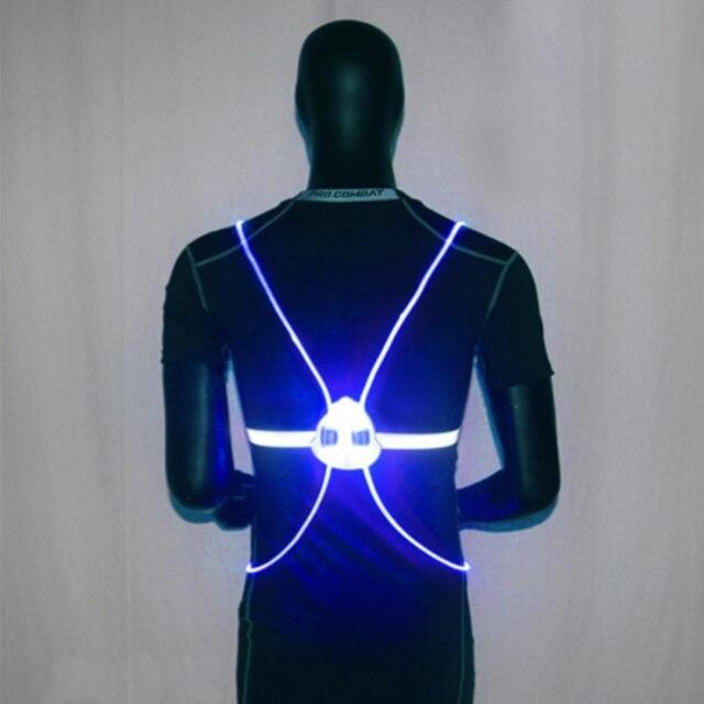 Night Running Cycling Flashing Vest Motorcycle LED Light Up Safety 360 Reflective LED Flash Driving Vest Safety Bike Vest 4