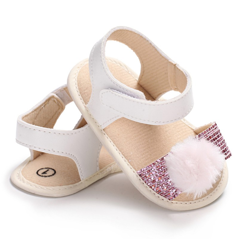 2018 Summer Baby Girl Fashion PU Sequins First Walkers