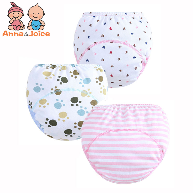 30 Pcs/lot 3 Layers Baby Training Pants/ Learning Panties/ Infant Shorts Boy Girl Diapers Cotton Nappies Underwear(China)