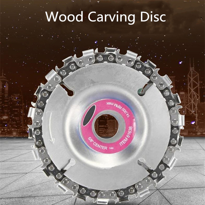 Tooth Grinder Chain Disc Wood Carving Plate 4 - Year of