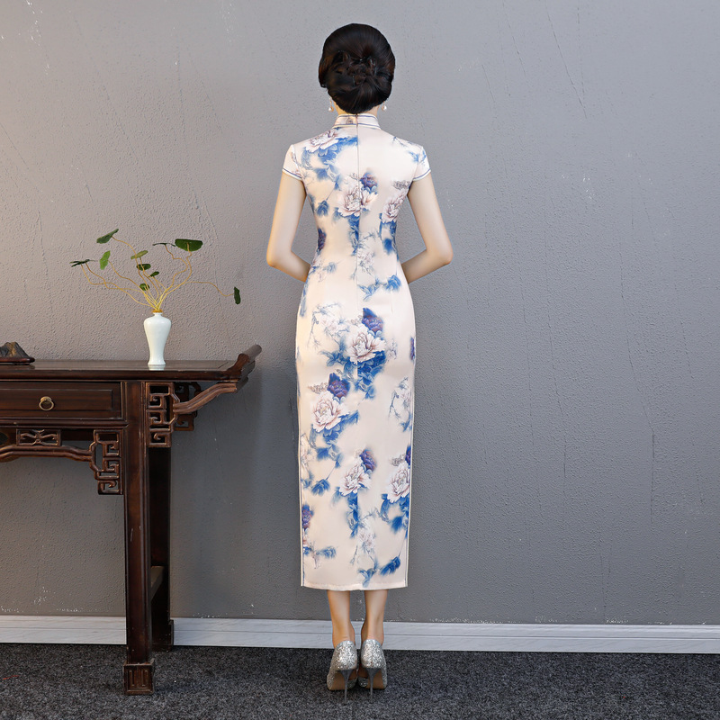 Xl Qipao À Courtes Imprimé Plus M Classique Xxl Manches 317 Robe 319 Chinois Floral Arrivée La Taille 318 Nouvelle Longue 3xl Nouveauté L Mince Cheongsam Cru 0wknPO