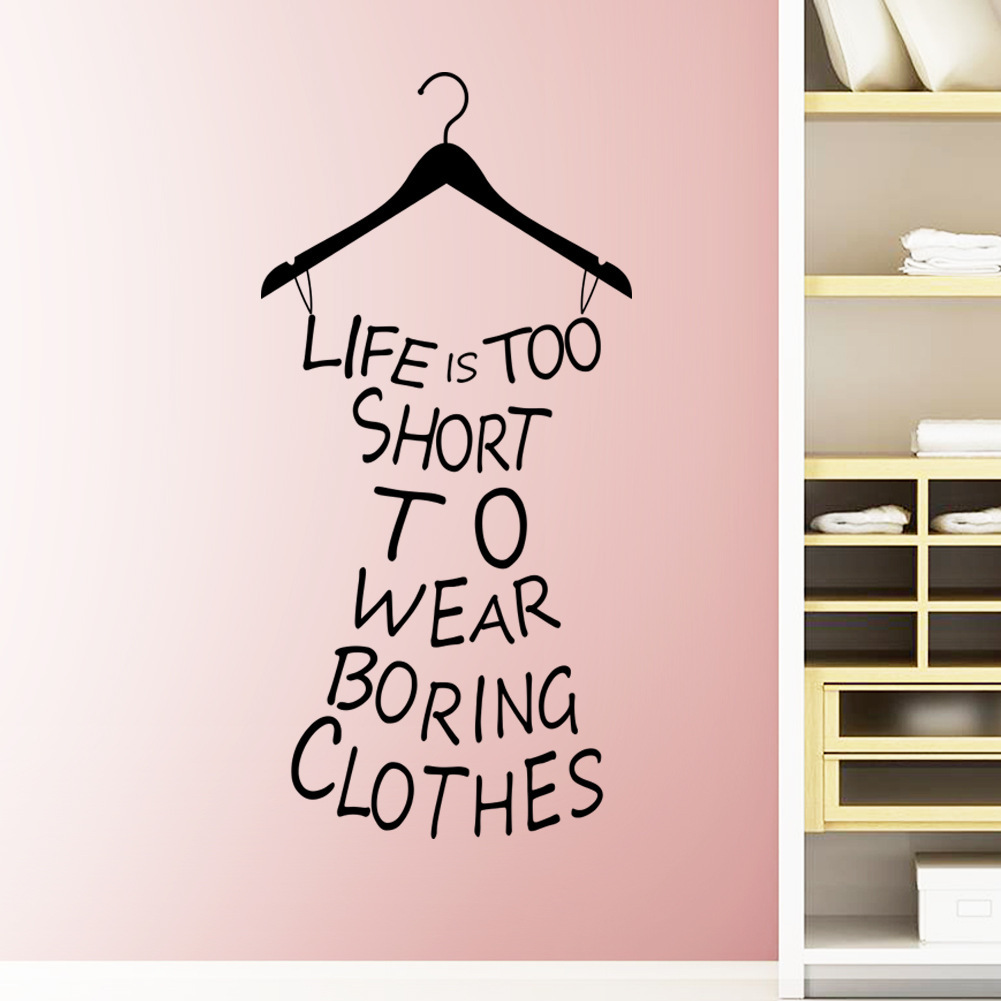 Poster design diy - 2016 New Design Clothes Tree Wall Stickers Wardrobe Decorations Diy Home Decals Vinyl Art Room Mural Posters Removable In Wall Stickers From Home Garden