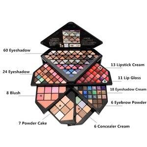 Image 4 - Новый брендовый бриллиантовый набор для макияжа, набор модной косметики, красивый подарок, пудра для ухода, консилер, волшебные брови, очаровательные тени для век