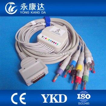2pcs/pack Burdick EK-10 one piece EKG cable with leadwires ECG cable.spo2 probe,medical accessories