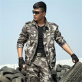 Outdoor Tactical military uniform army militar men's clothing CS combat uniform camouflage hunting clothes jacket+pants Sets
