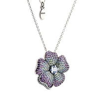 Original 925 Sterling Silver Jewelry Glorious Bloom Pendant WITHOUT Silver Chain Can Be Used As a Brooch FLN063