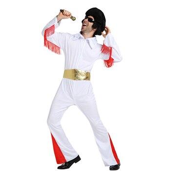 SNAILIFY Retrò da Uomo Rock And Roll Elvis Presley Cosplay Costume di Halloween Per Adulti Carnevale Partito Prestazioni Vestito