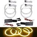 4 Pçs/set Carro Amarelo Anéis de Halo CCFL Angel Eyes Faróis para BMW E46, E36, E39, E318A04 Luz Kits # FD-4170