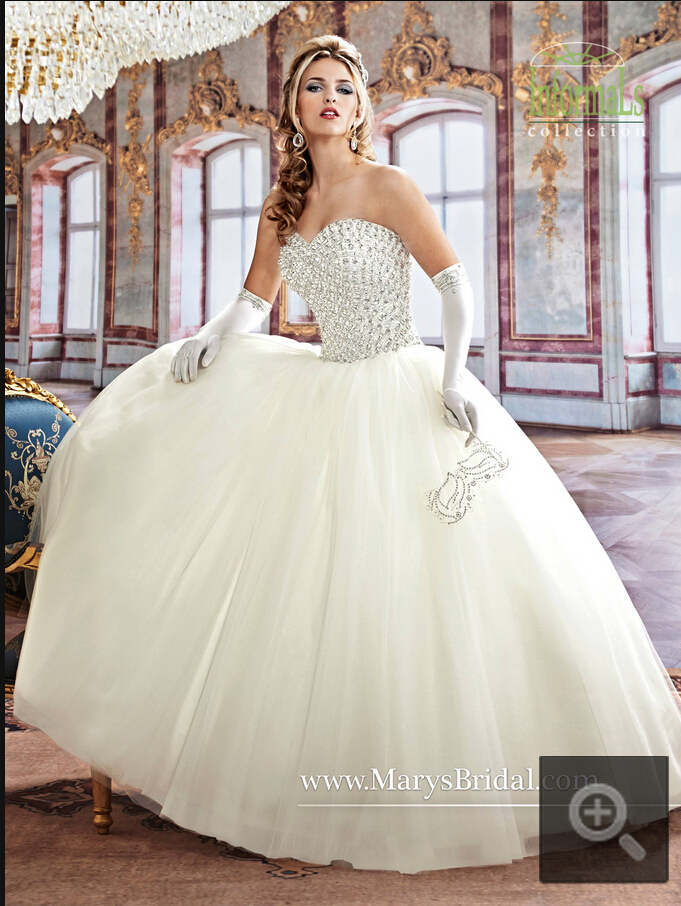 2015 exquisite wedding dress ball gown strapless with sweetheart ...