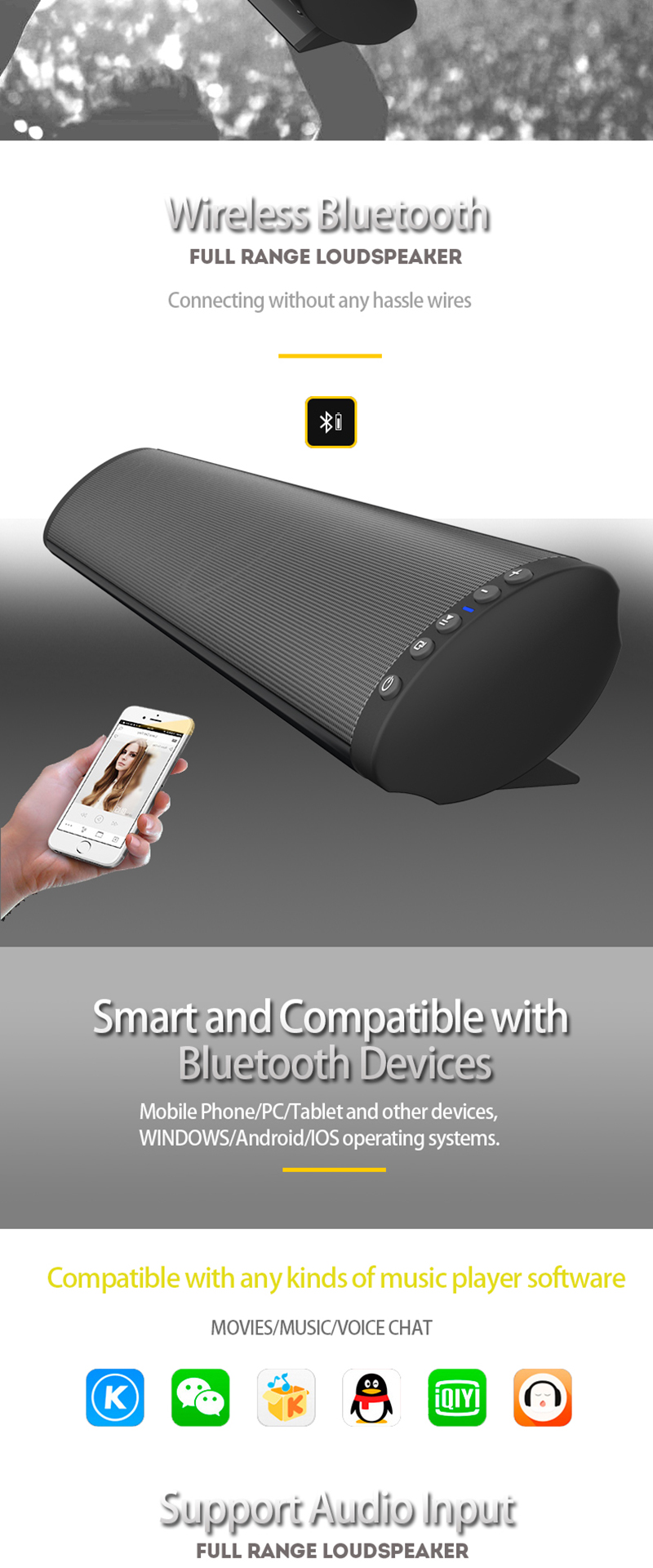 BLAUPUNKT WIRED OR BLUETOOTH SPEAKER  SMART PHONE //MEDIA PLAYER COMPATIBLE NEW