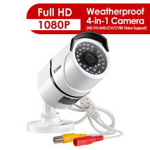 ZOSI 2.0 MP 1080P 4 in1 TVI/CVI/AHD/CVBS kamery bezpieczeństwa dzień noc kamera nadzoru 100ft IR odległość, aluminiowa obudowa metalowa