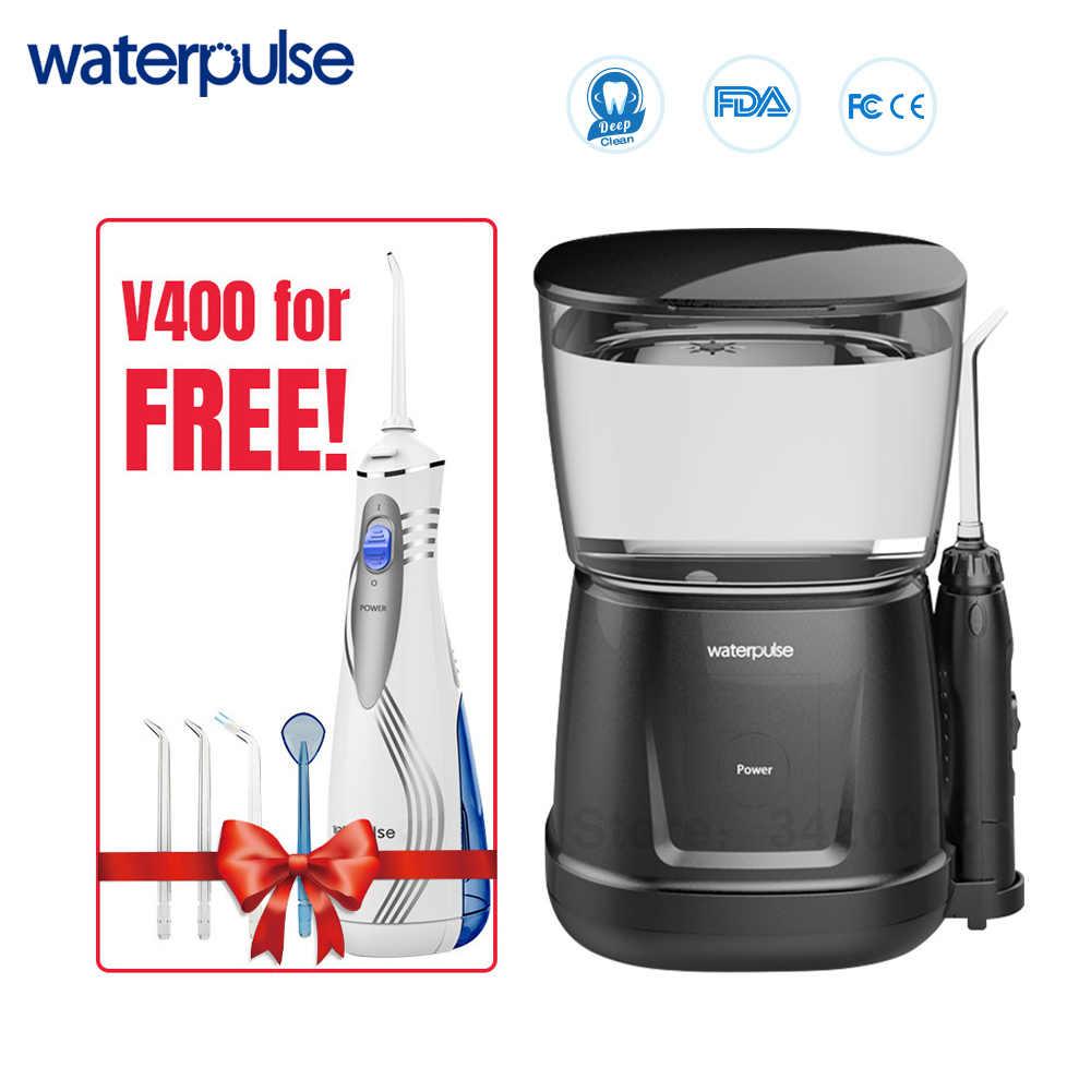 Waterpulse V700 et V400 9 pièces Bouts de Jet D'eau Puissance Flosser 1000ml Capacité Irrigateur Oral Voyageur Oral Dentaire Portatif Flosser