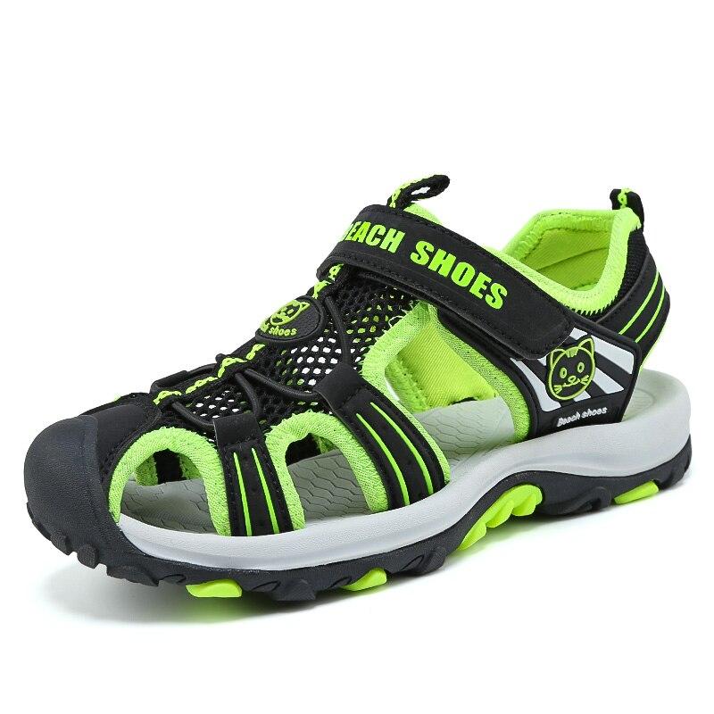ULKNN Closed-Toe Boys Sandals Breathable Mesh Summer Beach Kids Shoes Flats with Anti-Slippery Children Sandal For Sport Running