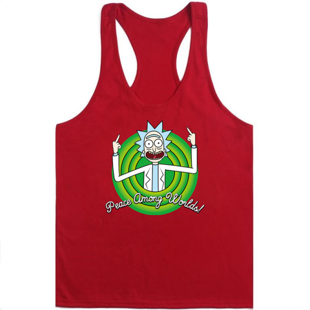 2018 new Fashion Cartoon Tank vest rick and morty worlds men MSwomen Tank vest funny Tank vest Cool Rick Morty men Tank vest