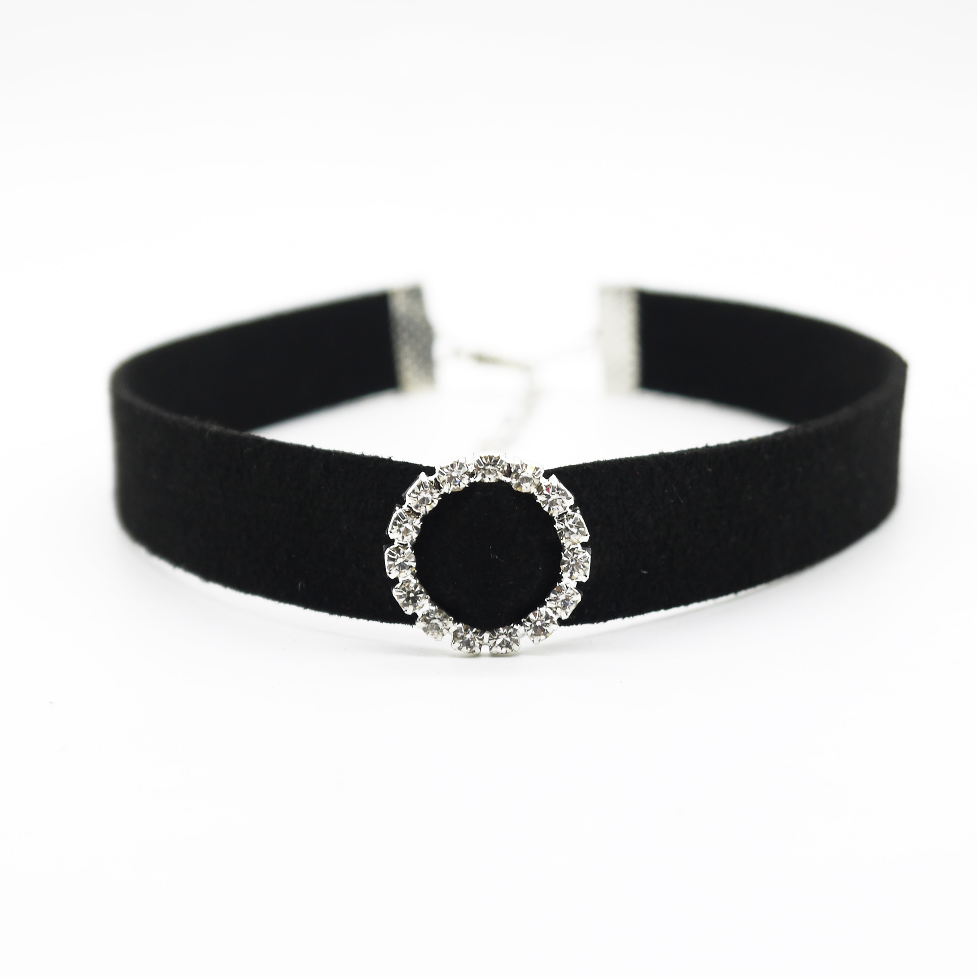 new design black velvet velvet choker necklace round crystal chockers chockers. Black Bedroom Furniture Sets. Home Design Ideas