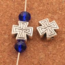 Cross Small Hole Beads Spacers 10X10mm 150PCS Antique Silver Alloy Metal Bead Jewelry DIY L1829 2016 hot 10pcs zinc alloy plating silver small cross
