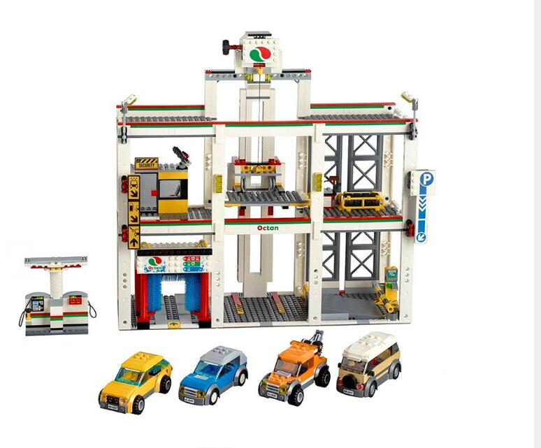 Lepin City Garage Series 02073 1045Pcs City Garage 4207 Building Blocks Bricks DIY Toys for Children Christmas Gifts brinquedos a toy a dream lepin 02043 718pcs building blocks bricks new genuine city series airport terminal toys for children gifts