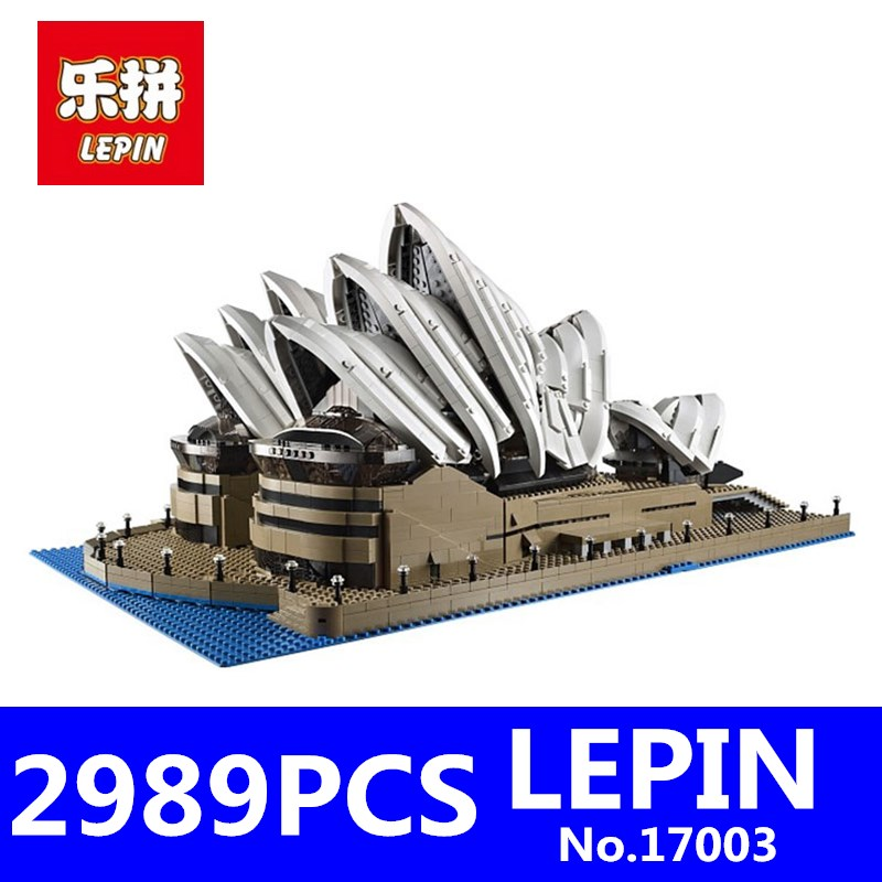 LEPIN 17003 2989Pcs Creator Sydney Opera House Model Kits Building Blocks Bricks Educational Toys for Children Compatible 10222 lepin creator home 17006 928pcs the red house set model 4000007 building kits blocks bricks educational toys for children gifts