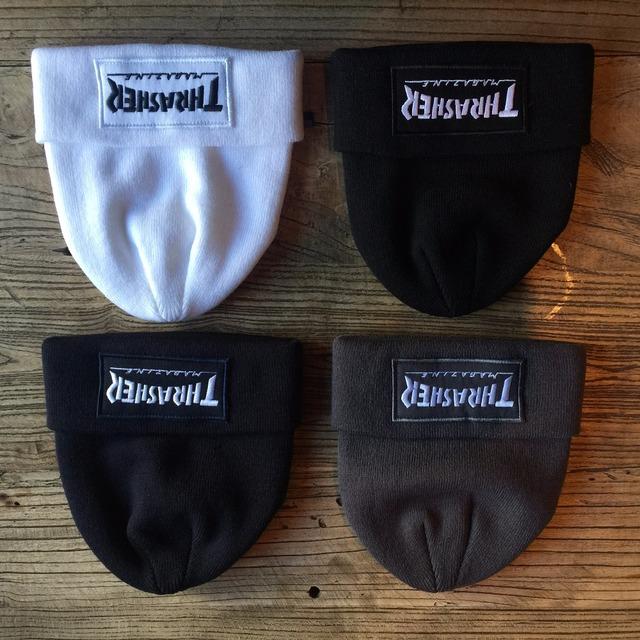 2017 Nueva moda Thrasher Gorra de algodón bordado invierno de punto Gorros sombreros de calidad superior tapas tapa de Hip Hop de Alta calidad