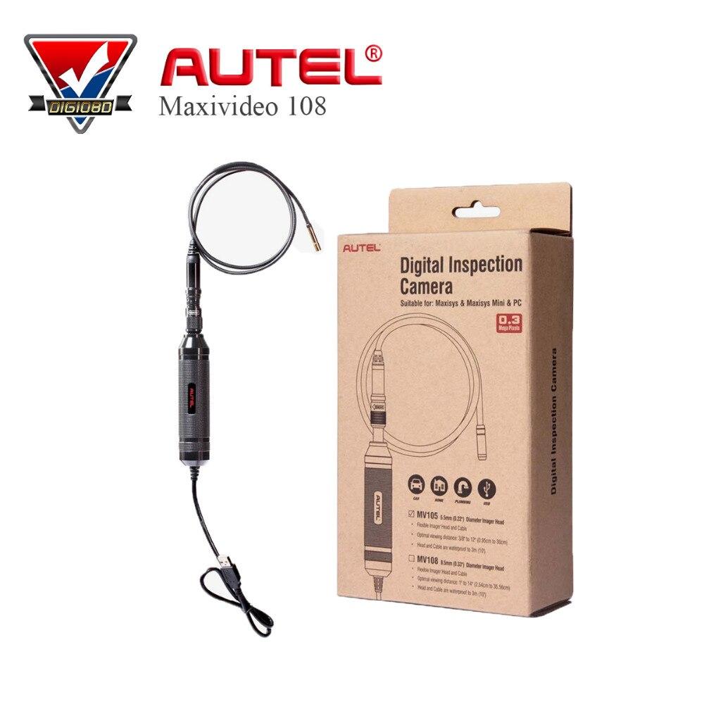 AUTEL MaxiVideo MV108 8.5mm/MV105 5.5mm Caméra D'inspection Numérique Travail avec Maxisys & PC Image Tête De Diagnostic vidéo Portée