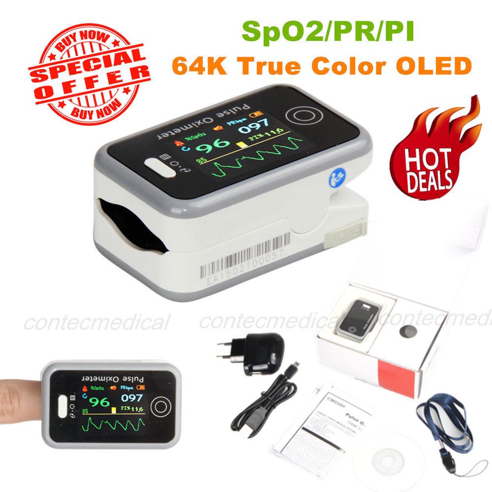 Gesundheitsversorgung Angemessen Contec Cms50h Finger-pulsoximeter Schlaf Studie Spo2 Pr Pi Blut Sauerstoff Monitor Schönheit & Gesundheit