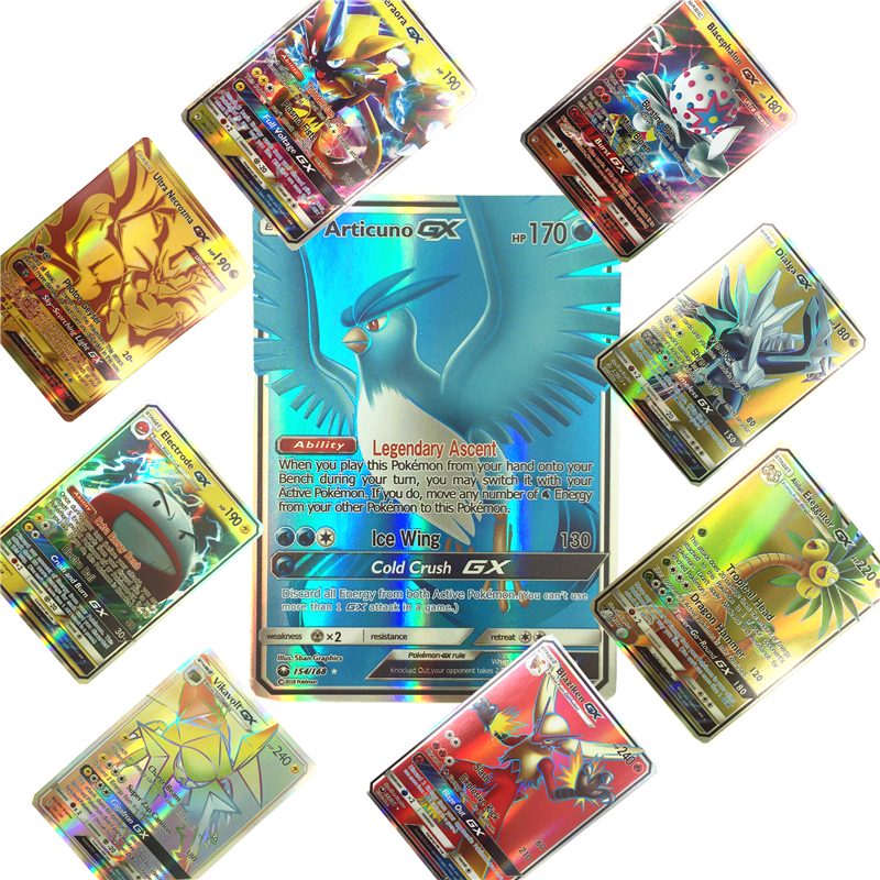 100 200Pcs English GX  Pokemones  Cards  Toys Card Game Battle Carte  Trading Energy Charizard Collection Card Toy(China)