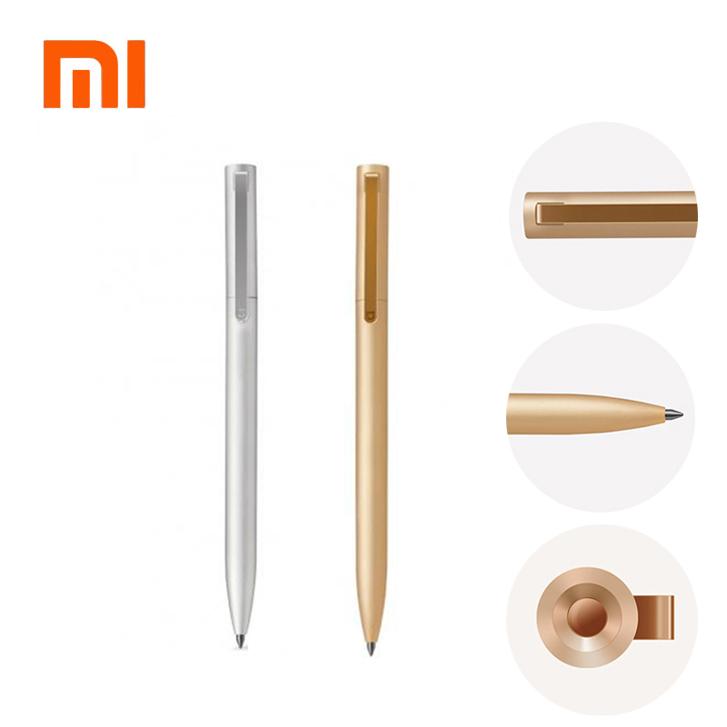 Original Xiaomi Mijia Metal Sign Pens PREMEC Smooth Switzerland Refill 0.5mm Signing Pens Mi Aluminum Alloy Pens Black Ink