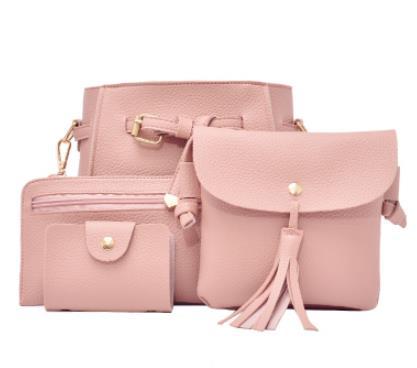 Amasie 4 piece/lot Purse Kawayii Wallet High Quality Small Cute Women lady Bag leather crossbody fashion bag EGT0354