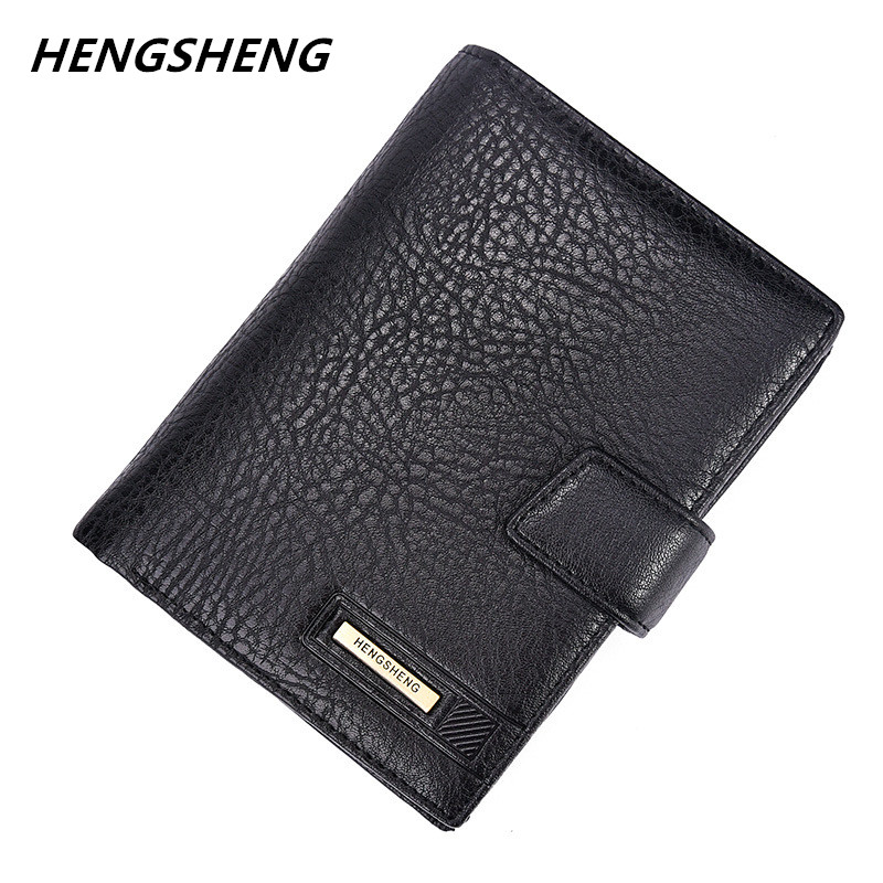 2017 varumärke Hengsheng manens plånbok högkvalitets hasp - Plånböcker - Foto 1