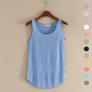 Image 1 - Gorące lato tank top fitness nowy T koszula Plus rozmiar luźny model damskiej podkoszulki bawełna O neck topy slim moda odzież damska